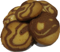 Marbled butter biscuits